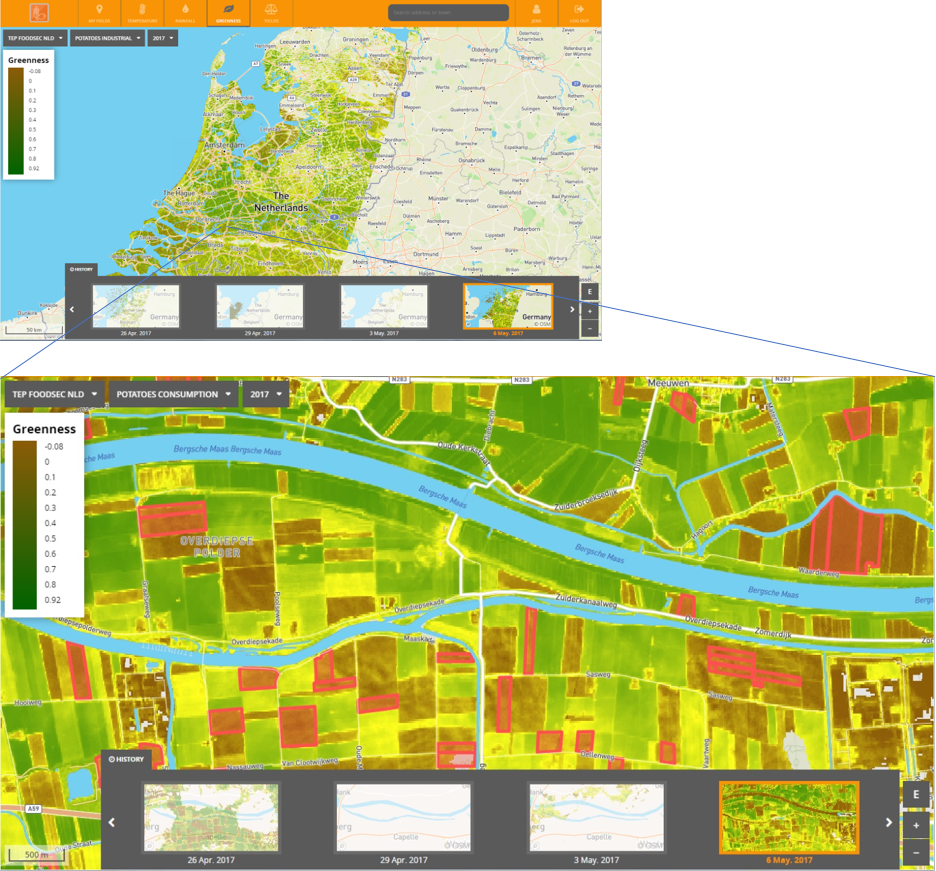 Greenness Map Netherlands